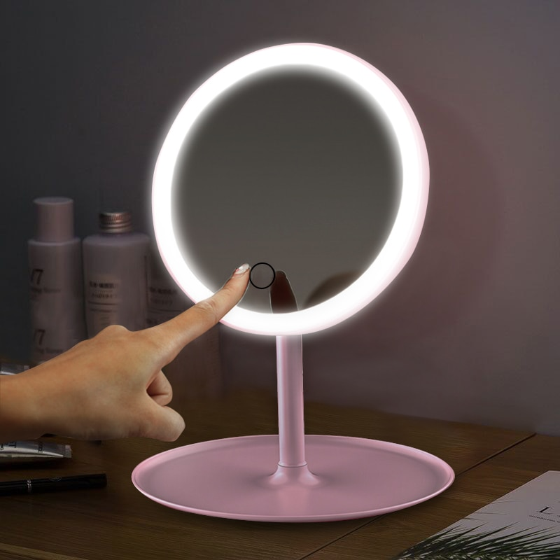 Led Makeup Mirror With Led Light Vanity Mirror Make Up Mirrors With Lights Standing Mirror Touch Screen Cosmetic Desk Mirrors Buy Products Online With Ubuy Jordan In Affordable Prices 4000324116284