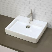 White DECOLAV 1401-CWH Carlyn️ Classically Redefined Oval Vitreous China Undermount Lavatory Sink with Overflow