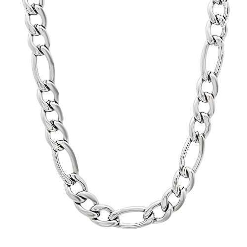 The Bling Factory Durable Stainless Steel 4mm Cuban Curb Link Chain Necklace Microfiber Jewelry Polishing Cloth