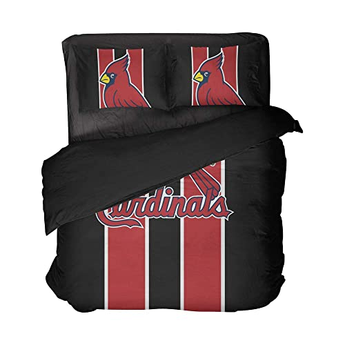 Buy Magaport 3pcs St Louis Bedding Baseball Bed Full Flat Sheet Striped Bedspread Red Black Duvet Cover Set Twin Full Queen King Online In Jordan B07zp299sb
