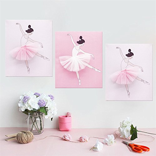 Buy Amazingwall Dance Wall Decal Ballet Art Decor Painting On Canvas Baby Nursery And Girls Room Decor 9 84x11 81 3pcsset Online In Jordan B07qv7spkv