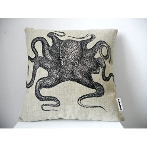 Buy Decorbox Cotton Linen Square Throw Pillow Case Decorative Cushion Cover Pillowcase For Sofa Octopus 18 X18 Online In Jordan B00k63n81y