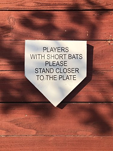 Buy Funny Bathroom Signs Rustic Baseball Signs Baseball Decor Bathroom Signs Bathroom Decor Players With Short Bats Please Stand Closer To The Plate Online In Jordan B076fld3j1