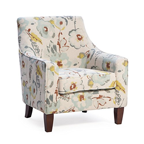 Buy Contemporary Classic Blue Gray White Green Brown Floral Upholstered Accent Arm Chair Living Room Furniture Online In Jordan B07dtfcdhk