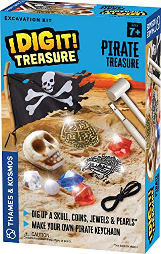 Dig Treasure Out of a Plaster Block! Explore Archaeology Thames /& Kosmos I Dig It Treasure Unique Composition for a Fun Dust-Free Educational Activity Pirate Treasure Excavation Kit