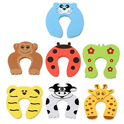 Buy 7 Pcs Child Safety Door Stopper Animal Foam Door Stopper Guards For Baby Children Finger Protection Protect Child Pets From Accidentally Getting Locked In Room Online In Jordan B07f8sggfh