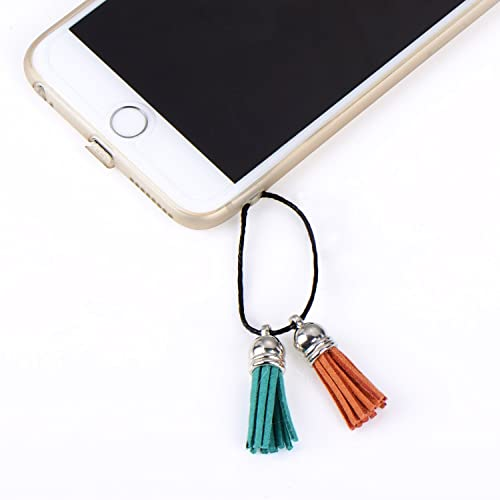 24 Colors Naler Leather Tassel Pendants Faux Suede Tassel with Caps 38 mm for Key Chain Straps DIY Accessories