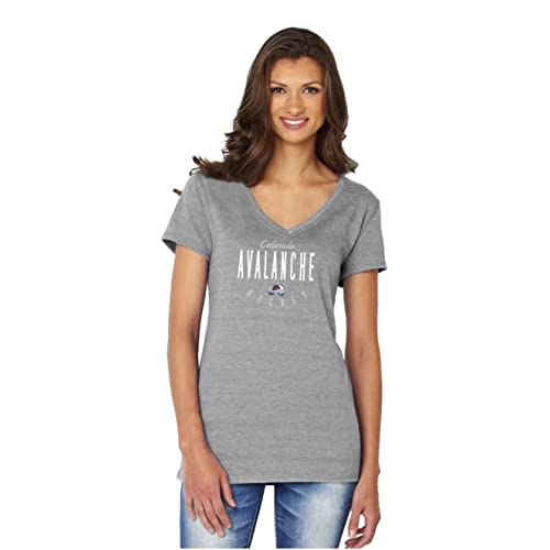 Soft As A Grape NHL Womens Traditional Triblend Short Sleeve V-Neck Tee
