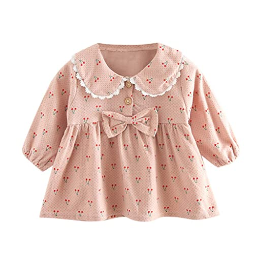 SUNBIBE Infant Baby Girls Dresses,Floral Print Sleeveless Boho Sling Princess Dress Summer Dresses