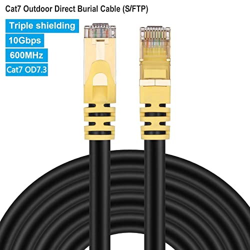 Shielded Ethernet Cable Booted 600Mhz Blue 5-Pack - 90 Feet SSTP GOWOS Cat7