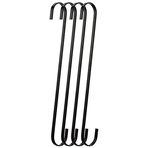 Ruiling 12-Pack Black Pot Rack S Shaped Hooks,3.5 Inch Universal S Hook Sturdy Hanging Hooks,for Kitchen Wares,Cookers,Pots,Pot Pad,Spoons Pans High Bright