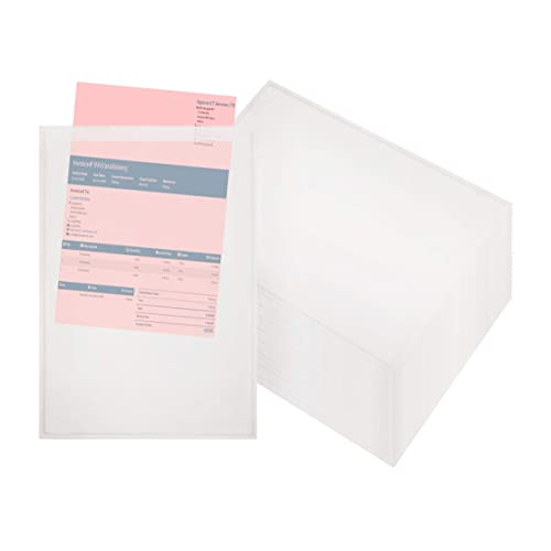 Pack of 100 2 mil Thick envelopes Clear Self-Adhesive envelopes Shipping Packing List envelopes 10x12 Document mailers 10 x 12 by Amiff Packing Packaging. Peel and Seal