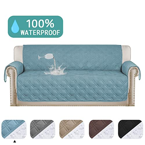 Stone Blue Dogs Cats Futon Protector Futon Sofa Slipcover Reversible Sofa Cover Furniture Protector Water Resistant Futon Slipcover Machine Washable Furniture Cover for Kids Futon