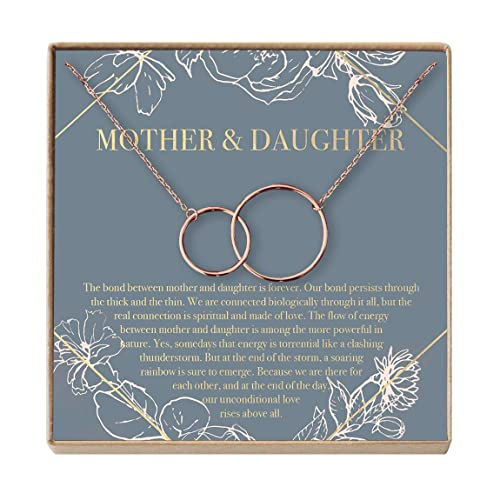 Dear Ava Sister of The Groom Gift Necklace: Sister in Law Gift 2 Asymmetrical Circles Bridal Shower Wedding