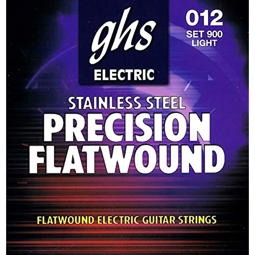 35.5 Winding 4-String Bass Precision Flats GHS Strings Medium Scale .045.095 Stainless Steel Flatwound 3120 Light