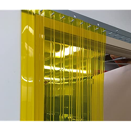 9 ft common door kit width X 108 in. 36 in. 3 ft Hardware included height Ribbed Anti Scratch Standard 8 in Strip-Curtains.com: Strip Door Curtain strips with 50/% overlap
