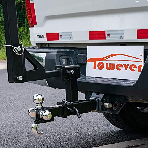 GTW- 4000 lb. YITAMOTOR Dual Receiver Extender Trailer Towing Hitch Extension Bicycle Extender