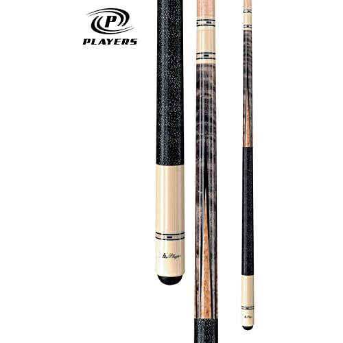 Players Classic Birds-Eye Maple with Triple Silver Rings Cue