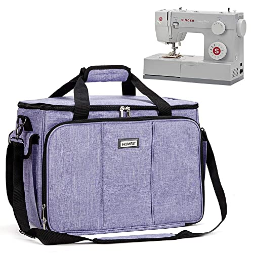Purple YICBOR Sewing Machine Cover with Storage Pockets Fit for Most Standard Singer and Brother Sewing Machines