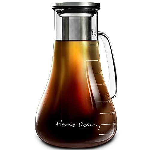 Cold Brew Coffee Maker Large Cold Brew Pitcher Cold Brew Kit Cold Brewer Iced Coffee Pitcher /… Iced Coffee Maker