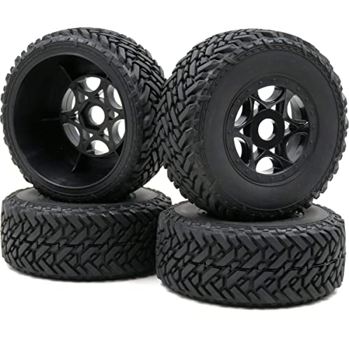 2pc 1//8 RC Off Road Buggy Badlands Tire Hex 17mm Wheels For 1:8 Losi HPI XTR Car