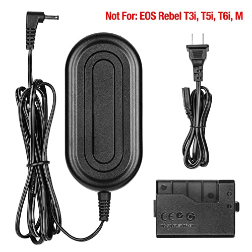 CEXO ACK-E8 AC Power Adapter Charger Kit Canon LP-E8 Replacement for DR-E8 DC Coupler for Canon EOS Rebel 700D 650D 600D 550D T5i T4i T3i T2i Kiss X6 Kiss X5 Kiss X4 DSLR Cameras