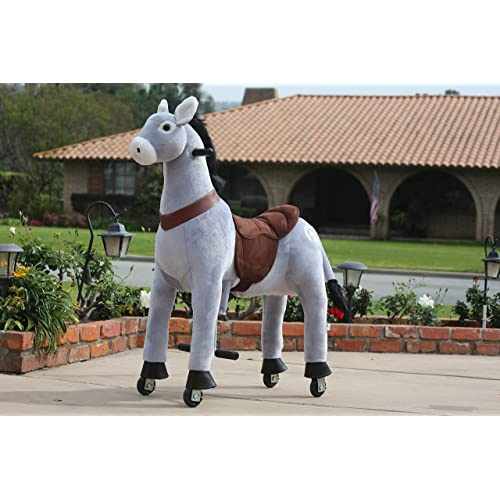 Medallion for Boys and Girls Color Medium Donkey My Pony Ride On Real Walking Donkey for Children 5 to 12 Years Old or Up to 110 Pounds