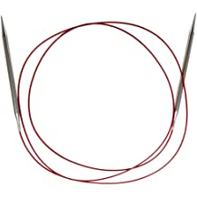 5mm 7024-8 Stainless Steel Knitting Needle; Size US 8 61cm ChiaoGoo Red Lace Circular 24-inch