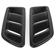 JeCar JL Vent Cover Air Vent Hood Vent Scoop Cover Black Cowl Hood Scoop Cover for Jeep Wrangler JL JLU JT 2018 2019 Carbon Fiber