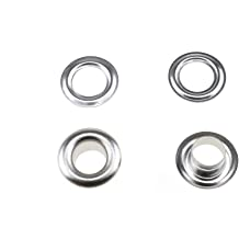 QLOUNI 500Pcs 3//16 Eyelets Silver Metal Grommets Eyelets for Canvas Leather Fabric Belt Clothes Repair and Decoration