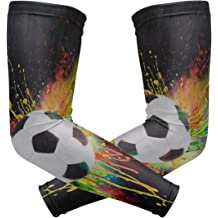 Arm Sleeves Clownfish Green Grass Mens Sun UV Protection Sleeves Arm Warmers Cool Long Set Covers