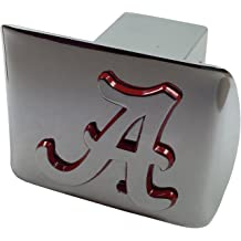 on black METAL Hitch Cover AMG state shape with green trim Baylor University METAL emblem