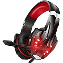 2ff2f1538ff BENGOO Stereo Gaming Headset for PS4, PC, Xbox One Controller, Noise  Cancelling Over Ear Headphones Mic, LED Light, Bass Surround, Soft Memory .