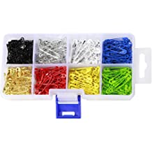 BESTCYC 1Box 5cm Mixed Colors Plastic Gourd Shaped Head Wire Loop Needle Threader Stitch Insertion for Hand Machine Sewing 100pcs