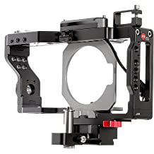 JTZ DP30 Camera Cage with Quick Release Plate,Hot Shoe Mount ARRI Rosette Standard Tooth for Panasonic GH3 GH4 DSLR Camera Flash Speedlite