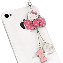 IP250-B New Cute Snoppy Red Heart 3.5mm Ear Jack Anti Dust Plug Cover For iPhone /& Android
