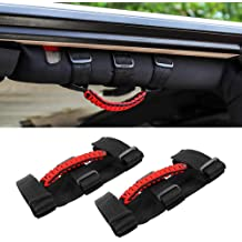 Black Roll Bar Grab Handles Grip Handle for Jeep Wrangler Roll Bars Easy-to-Fit 3 Straps Design for 1987-2019 Models Wrangler Accessories 2 Pack