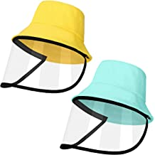 2 Pieces Kids Fisherman Hat Face Protection Hat Sun Protection Hat with Front Cover