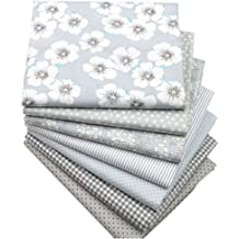 Supvox 10Pcs Christmas Cotton Fabric Squares Quilting Fabric Patchwork Precut Fabric Scraps for DIY Quilting for Xmas Sewing Crafting 7.8x9.8inch