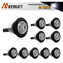 Meerkatt 3//4 Inch Mini Round Smoked Lens Blue LED Button Clearance Lamp Recessed Mount Small Side Marker Indicator Light Caravan Truck Trailer Bike ATV Boat SUV 12V DC Waterproof Pack of 50