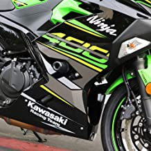 Swing Arm Spools and Bar Ends MADE IN THE USA Shogun Motorsports 2004-2005 Kawasaki ZX10R Black Complete No Cut Frame Slider Kit; Includes: No Cut Frame Sliders 755-4909