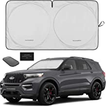 Car windshield sun shade foldable 2-Piece car sun screen for front window sun visor protector shield blocker for car window covers Blocks Max UV Rays and Keeps Your Vehicle Cool Small 23.5 x 29