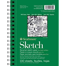 11x14 Wire Bound Strathmore 455-4 400 Series Sketch Pad 100 Sheets
