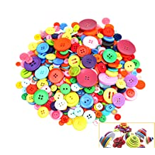 Brown Large Buttons 4 Hole Round Sewing Buttons Spray Colored Craft Buttons for Sewing Scrapbooking and DIY Crafts Raydodo 50 PCS 25mm 1 Inch Buttons for Crafts