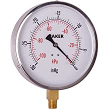 Baker Instruments T300 Series Stainless Steel Bi Metal Thermometer 0 to 250/°F 1//2 NPT Straight Connection -20 to 120/°C 6 Stem 3 Dial 6 Stem 1//2 NPT Straight Connection 3 Dial Reed LF45-30-1//4-NIST