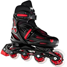 Nattork Adjustable Inline Skates for Kids and Adults with Light Up Wheels,Beginner Skates Fun Illuminating Outdoor Blades for Girls and Boys Youth and Women