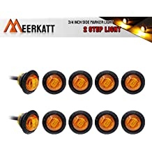 "Pack of 4 6/"" Inch Oval Smoked Lens Red Surface Mount Side Marker LED High Brightness Kenworth Peterbilt Light Waterproof Jeep Lorry Truck Bus Trailer Boat Sealed Bulb 12v DC Universal DA12 Meerkatt"