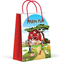 12 Pack LARZN New Premium Safari Party Bags Goody Bags Party Favors Party Supplies Decorations Animal Party Favor Bags Gift Bags Zoo Treat Bags