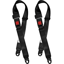 Oterri Seat Belt Adjuster Shoulder Neck Strap Positioner Clips 2 Packs,Black Convenient Auto Seat Belt Cover Clips Protector