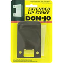 Polished Brass Finish 2 Width x 2-3//4 Height Don-Jo ETS 102 18 Gauge Extended Lip Strike Pack of 10